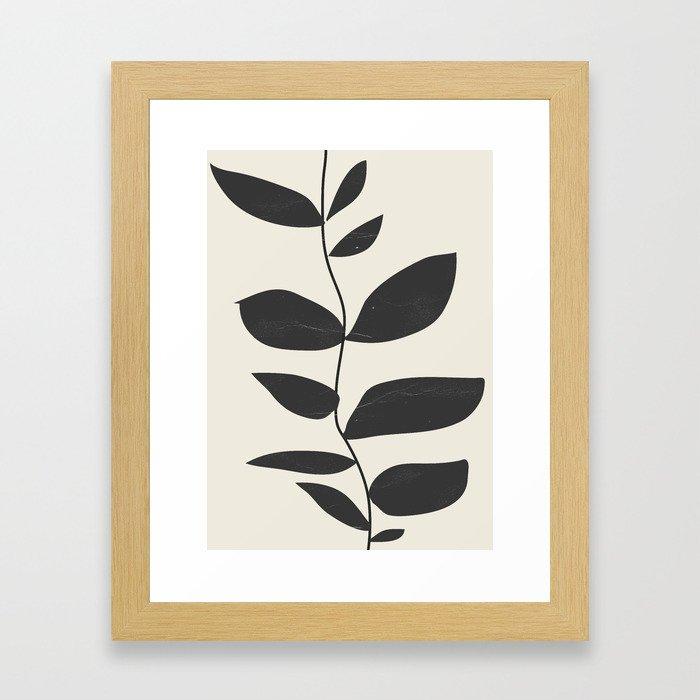 minimal plant Framed Art Print