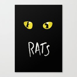 Rats Not Cats! The Musical Poster Art Canvas Print
