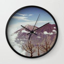 Guatemalan Volcanos Wall Clock