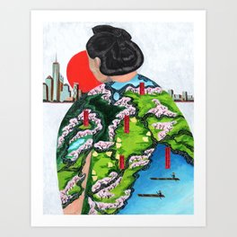 JAPAN DAY IN CENTRAL PARK Art Print