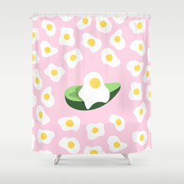 Happy Egg Shower Curtain