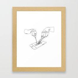 Devouring internet memes Framed Art Print