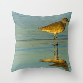 Sandpiper Reflections Throw Pillow
