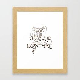 A Little Chocolate Framed Art Print