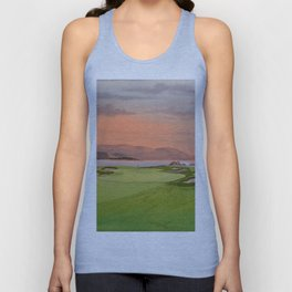 Pebble Beach Golf Course Hole 17 Unisex Tank Top