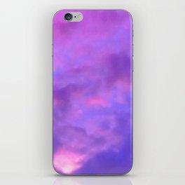 Purple Clouds iPhone Skin