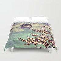 poetry Duvet Covers featuring Watching Kukuyediyo by Kijiermono