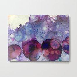 Purple Lily Pads Metal Print