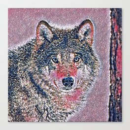 GlitzyAnimal_Wolf_002_by_JAMColors Canvas Print