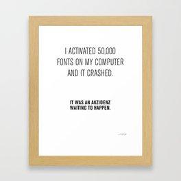 Graphic Design Puns / 01 Framed Art Print