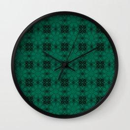 Lush Meadow Floral Geometric Wall Clock