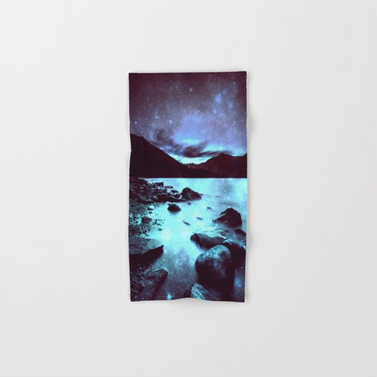 Magical Mountain Lake Violet Aqua Hand & Bath Towel