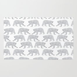 Polar Bears geometric trendy kids bear pattern print for boy or girl gender neutral Rug