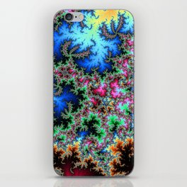 Peacock feathers on Acid - fractal art iPhone Skin