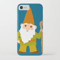 gnome iPhone & iPod Cases featuring gnome sweet gnome by Elephant Trunk Studio