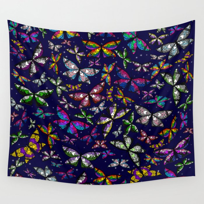 Fly With Pride: Butterfly Bonanza Wall Tapestry