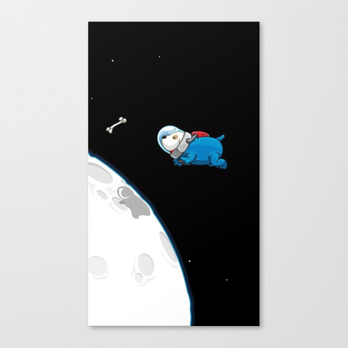 Space Bone Seeker Canvas Print