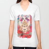 psychedelic V-neck T-shirts featuring Psychedelic by Pepe Psyche