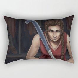 The Field Hockey Player Rectangular Pillow