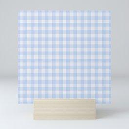 Gingham Pattern - Blue Mini Art Print