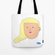sweet yellow girl Tote Bag