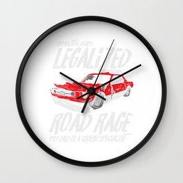 Demolition Derby Crashing Cars Legalized Road Rage Gift Wall Clock