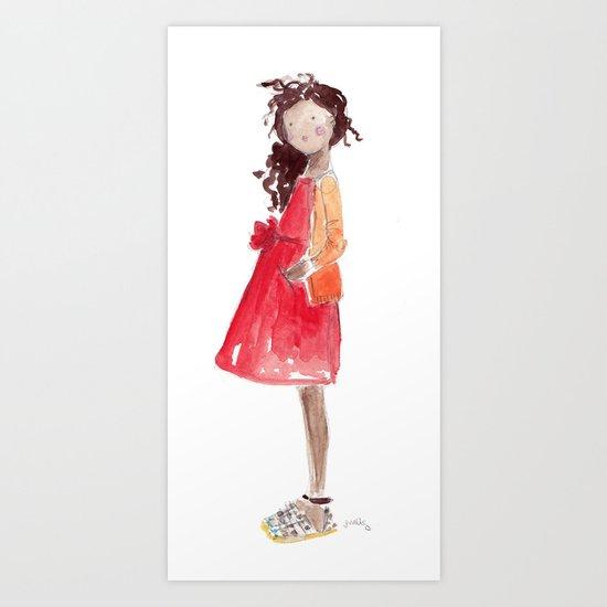 Crewcuts Girl Art Print