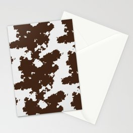 Realistic cow hide pattern Stationery Cards