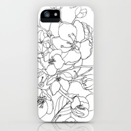 Crabapple Blossoming iPhone Case