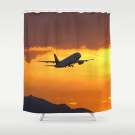 Airliner27 Shower Curtain