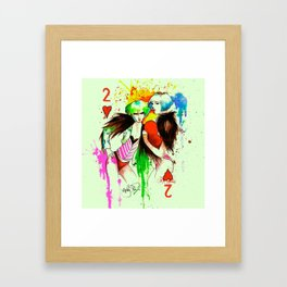 Two Of Hearts. Framed Art Print