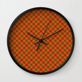 Tami Plaid Test Wall Clock