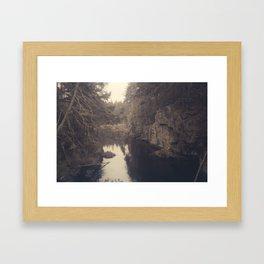 Beyond the ridge Framed Art Print
