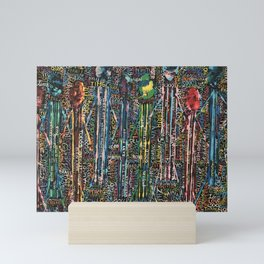 Awakening, people and words Mini Art Print