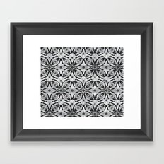Marble black butterfly pattern Framed Art Print