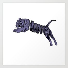 Purple Sliced Tiger Art Print