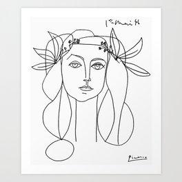 Head 1946 Abstract Fantasy Print Art Print