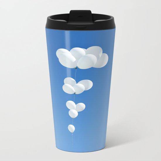 Saudade (White balloons) Metal Travel Mug