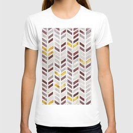 Modern Herringbone Chevron Pattern Painting T-shirt