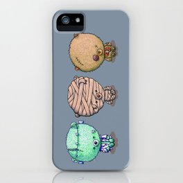 Three Little Monsters iPhone Case