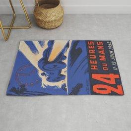 1955 Le Mans poster, vintage car poster, Le Mans poster, Rug