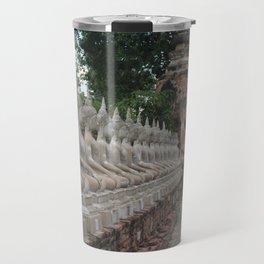 Buddha statues at Wat Yai Chai Mongkhon Travel Mug