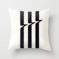 glitch Throw Pillows featuring Glitch by Chad De Gris