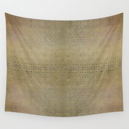 Gold and Silver Leaf Bridget Riley Inspired Pattern Wall Tapestry