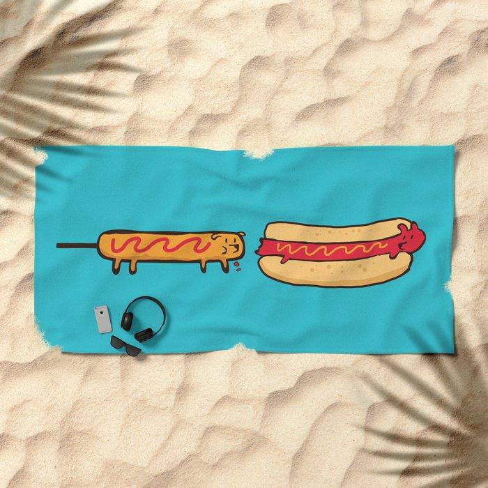 Dog Eat Dog World Beach Towel