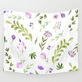 Purple Flower Field Wall Tapestry
