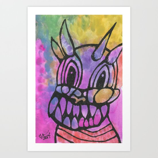 My Little Monster Art Print