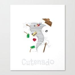 Funny Cutenado Cute Tornado Canvas Print