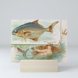 Vintage Pompano Fish Illustration Mini Art Print