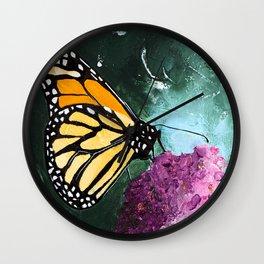 Butterfly - Soft Awakening - by LiliFlore Wall Clock